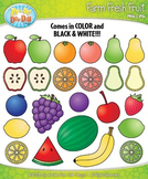 Farm Fresh Fruit Clipart {Zip-A-Dee-Doo-Dah Designs}