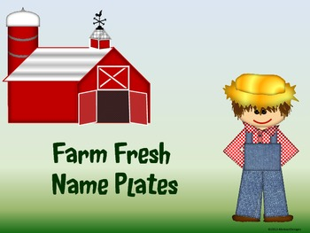 Farm Fresh Name Plates