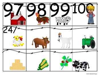 Farm Fresh Numbers (100's Chart and Calendar)