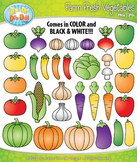 Farm Fresh Vegetables Clipart {Zip-A-Dee-Doo-Dah Designs}