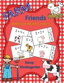 Farm Friends Addition Within 10 Clip Card Math Centers