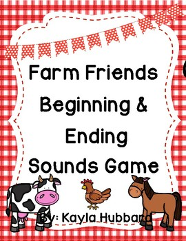 Farm Friends Beginning and Ending Sounds Game