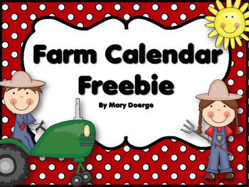 Farm Friends Calendar Set Freebie