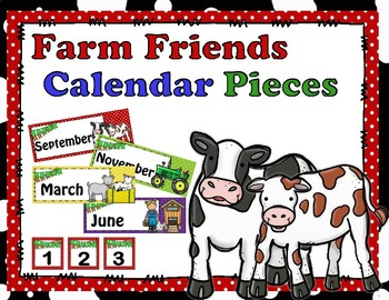 Farm Friends Calendar Pieces