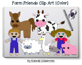 Farm Friends Clip Art (Color)