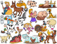 Farm Animal Clip Art Pack: 50 Clip Art Images for Commerical Use