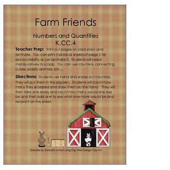 Farm Friends Common Core Math Game