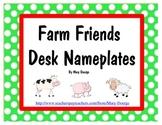 Farm Friends Desk Nameplates Freebie
