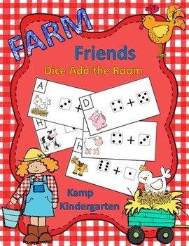 Farm Friends Dice Add the Room (Sums to 10)