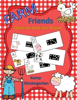 Farm Friends Domino Add the Room Sums to 10