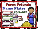 Farm Friends Editable Name Plates