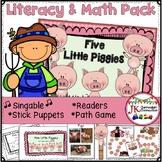 Farm Song Packet - Literacy & Math Activities - Five Little Piggies!
