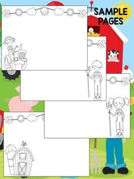 Farm Friends - Happy Desk Editable Coloring Pages: Farm Animals