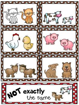 Farm Friends Matching (Eureka Math Module 1)