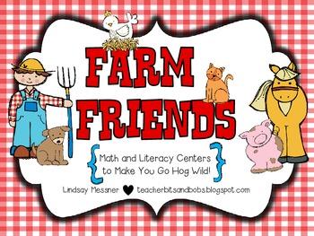 Farm Friends {Math & Literacy Centers To Make You Go Hog Wild!}