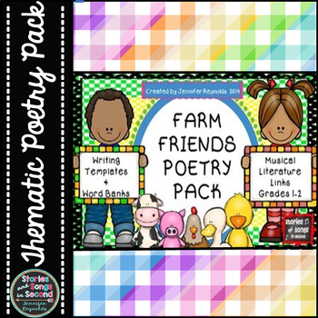 Poetry Pack Writing Activities for the Primary Grades-Farm Friends
