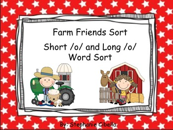 Farm Friends Short o Long o Sorting Activity