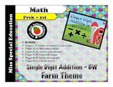 Single Digit Addition - Farm Theme - Prek, Kindergarten, F