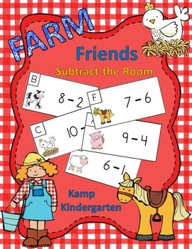 Farm Friends Subtract the Room (Minuends to 10)