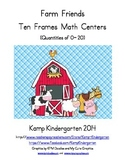 Farm Friends Ten Frames Math Centers (Quantities of 0 to 20)