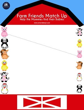 Farm Friends Worksheets and More Printable Pack