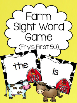 Farm Fry's First 50 Sight Word Game