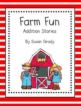 Farm Fun Addition Word Problem Book