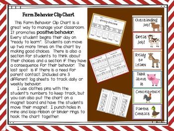 Farm Fun Behavior Clip Chart