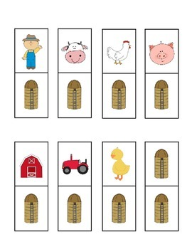 Farm Fun Dominoes