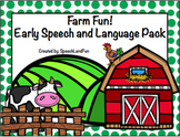 Farm Fun Early Language Packet (Preschool & K)