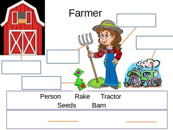 Farm Fun Labeling and Sentence Frames