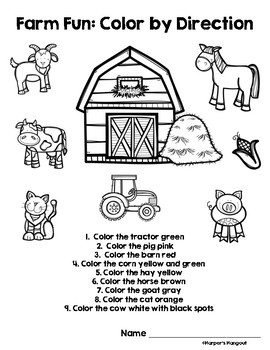 Farm Fun Learning Packet