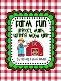 Farm Fun - Literacy, Math, and Writing MEGA Unit