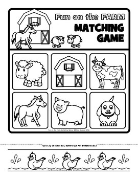 Farm Fun Matching Game - Two versions included!