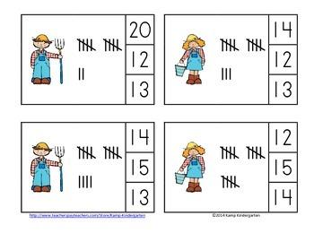 Farm Fun Math Centers (Numerals to 20)