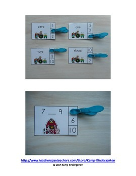 Farm Fun Math Centers (Numerals to 20)