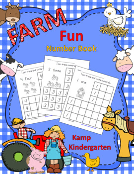 Farm Fun Number Book Tracing and Writing Numerals to 10
