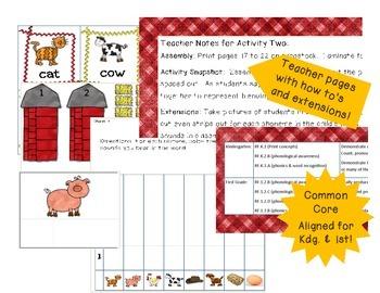 Farm Fun Phonemic Awareness Activities--Expanding File