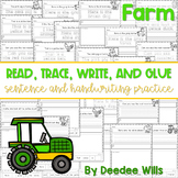 Farm Read, Trace, Glue, and Draw