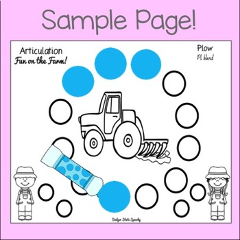 Farm Fun: Dot Speech and Assorted Language Activities!