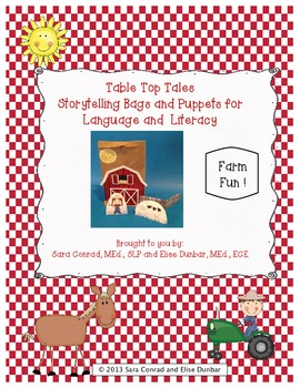 Farm Fun Storytelling Bag and Puppets for Language and Literacy