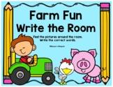 Farm  Fun Write the Room