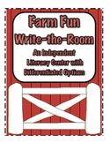 Farm Fun: Write-the-Room-Independent Literacy Center with