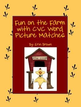 Farm Fun - a CVC Word Picture Match Game