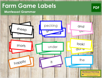 Farm Game Labels