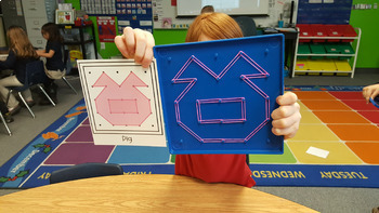Farm Geoboard Task Cards (Duck for President & Click Clack Moo)