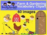 Farm and Gardening Clipart Set: 60 PNG Images