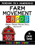 Farm Gross Motor Skill Movement & Brain Break Cards