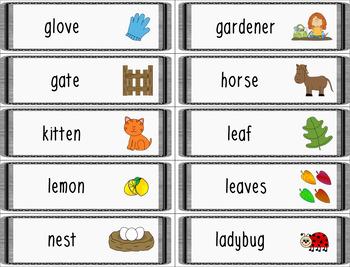 Farm & Harvest Words Wall Cards