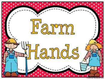 Farm Helpers Classroom Jobs Display & Clip Chart